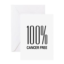 100% Cancer Free Greeting Card
