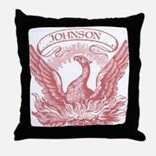 Johnson Vintage Eagle Last Name Throw Pillow