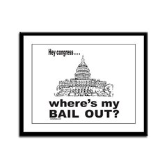 CONGRESS/BAIL OUT Framed Panel Print