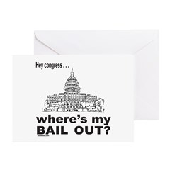 CONGRESS/BAIL OUT Greeting Cards (Pk of 20)
