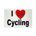 I Love Cycling Rectangle Magnet (10 pack)