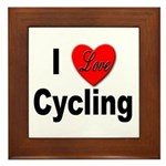 I Love Cycling Framed Tile