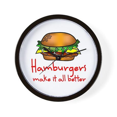 Hamburgers Wall Clock