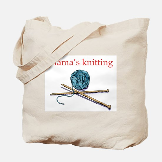Mama's Knitting Tote Bag