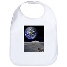 Wolf Dreams of Moon Bib