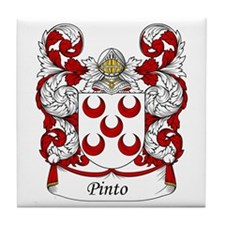 Pinto Family Crest Tile Coaster