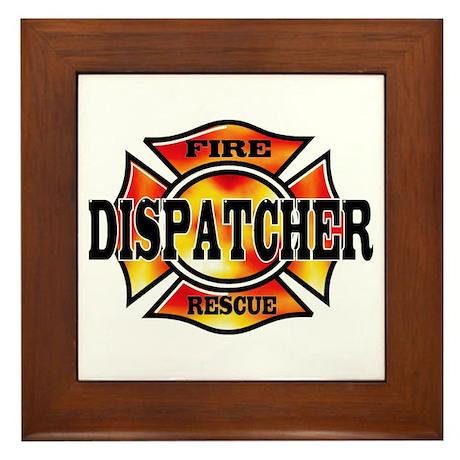Fire Dispatcher Framed Tile