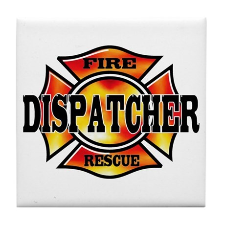 Fire Dispatcher Tile Coaster