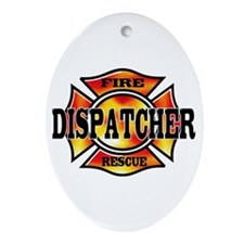 Fire Dispatcher Oval Ornament