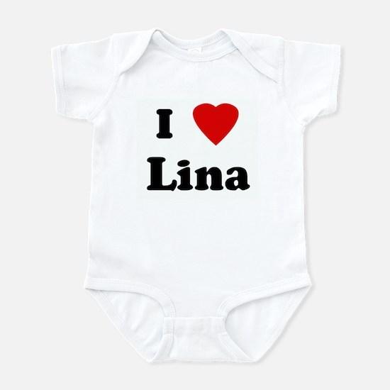 I Love Lina Infant Bodysuit