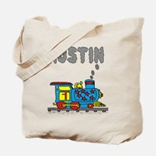 Train with Austin in Smoke Tote Bag
