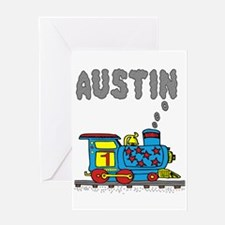 Train with Austin in Smoke Greeting Card