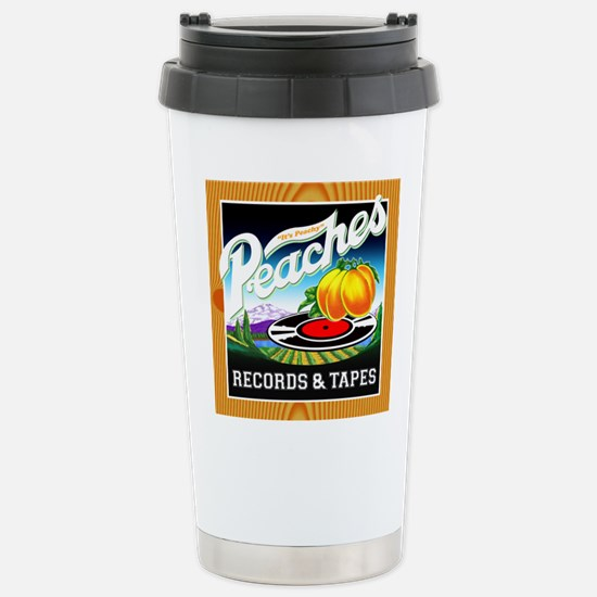 Peaches Records & Tapes Stainless Steel Travel Mug