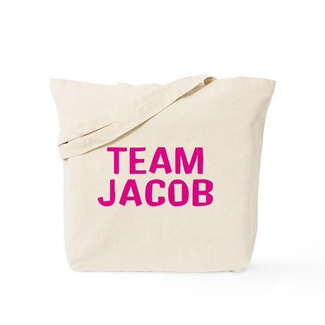 Team Jacob(Dark Pink) Tote Bag