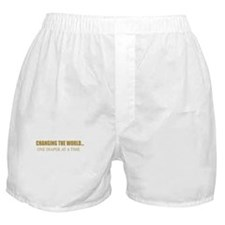 CHANGING THE WORLD ONE DIAPER Boxer Shorts