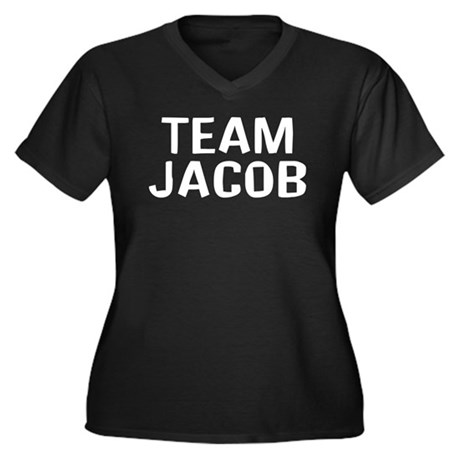 Team Jacob(White) Women's Plus Size V-Neck Dark T-