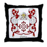 Porto Family Crest Throw Pillow