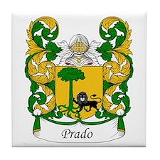 Prado Family Crest Tile Coaster