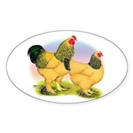 Buff Brahmas2 Oval Sticker (10 pk)