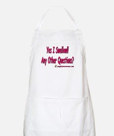 I Swallow Any Other Questions BBQ Apron