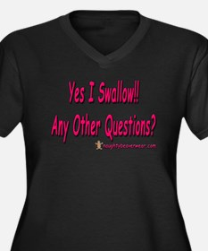 I Swallow Any Other Questions Women's Plus Size V-