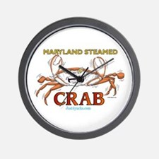 Maryland Steamed Crab Wall Clock