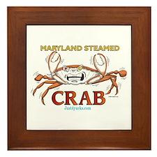 Maryland Steamed Crab Framed Tile