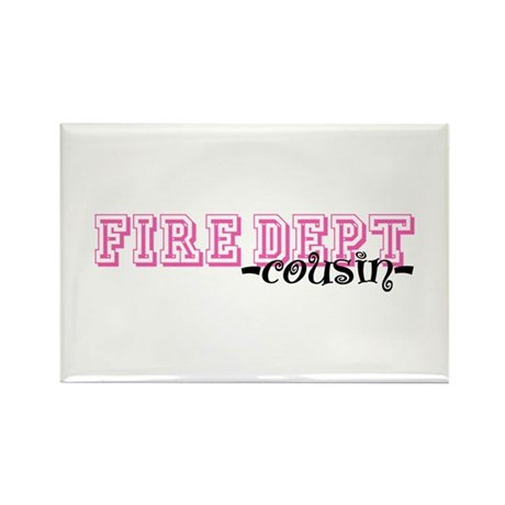 Fire Dept Cousin Jersey Style Rectangle Magnet