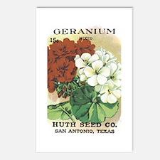 Geranium Postcards (Package of 8)