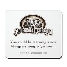 Bluegrass Lyrics Logo Mousepad