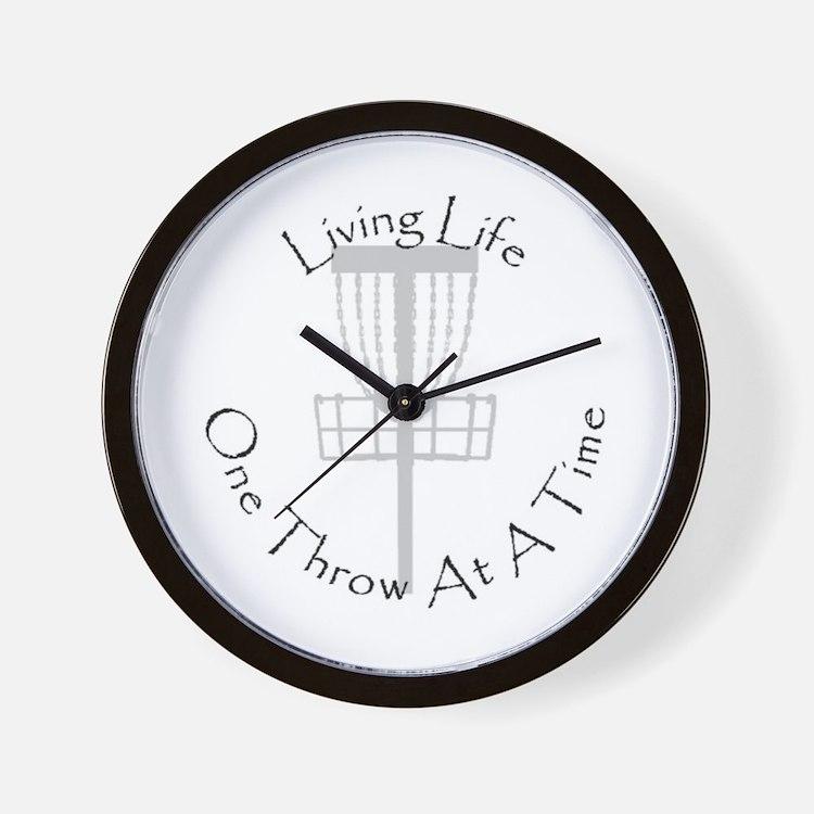 Cute Disc golfer Wall Clock
