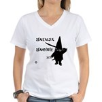 Gninja Gnomes Women's V-Neck T-Shirt