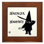 Gninja Gnomes Framed Tile