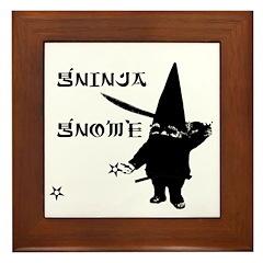 Gninja Gnomes Framed Tile