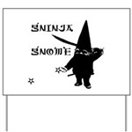 Gninja Gnomes Yard Sign