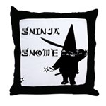 Gninja Gnomes Throw Pillow