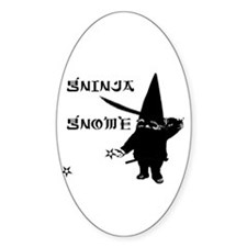 Gninja Gnomes Oval Decal