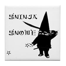 Gninja Gnomes Tile Coaster
