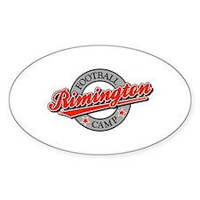Rimington Football Camp Oval Decal