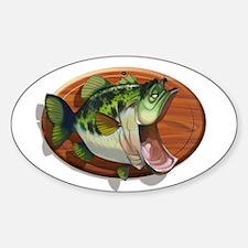 Big Mouth Bass Oval Sticker (10 pk)