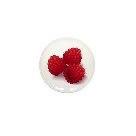 Raspberries Mini Button