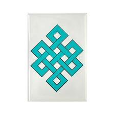 Turquoise Tibetan Endless Knot Rectangle Magnet