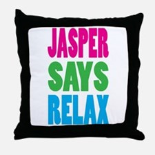 Jasper Says Relax (Color) Throw Pillow