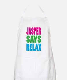 Jasper Says Relax (Color) BBQ Apron
