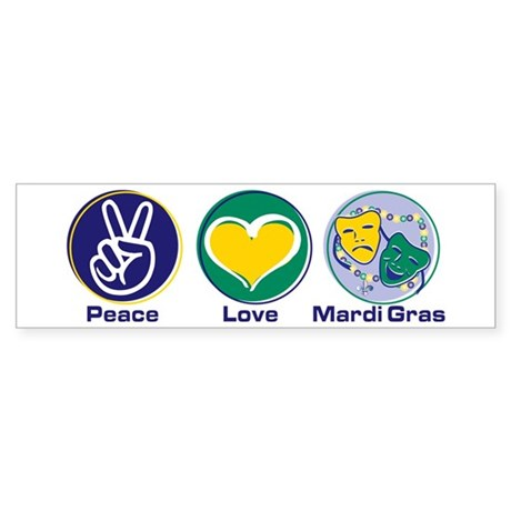 Peace Love MG Beads Sticker (Bumper)