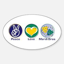 Peace Love MG Beads Decal