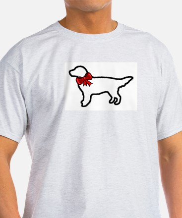Holiday Golden Retriever Ash Grey T-Shirt