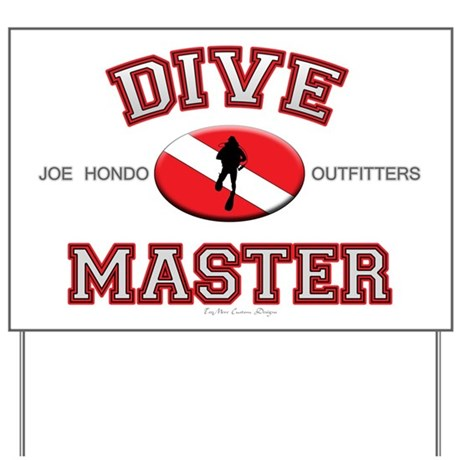 Red Dive Master Yard Sign