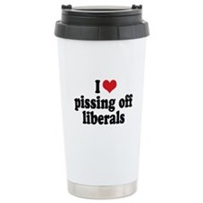 Anti-liberal I heart Travel Coffee Mug