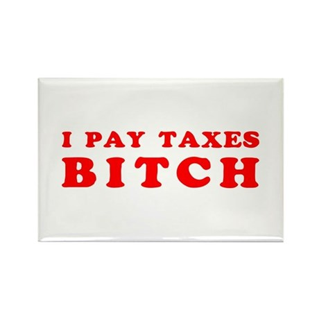 I pay taxes... Rectangle Magnet
